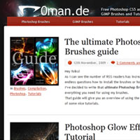 cs5 brushes Redesign – r0man.de gets a new look